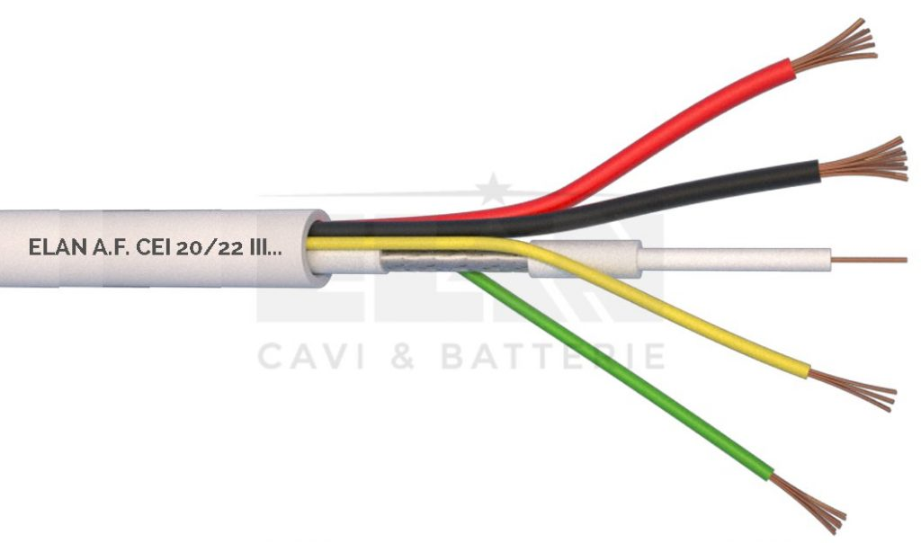 CAVO COASSIALE COMPOSTO TVCC MCX 75 OHM+2X0,50+2X0,22