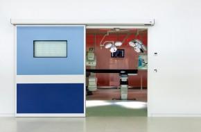 porta-automatica-sala-operatoria-finestra-scorrevole-label-spa-pulsante-a-gomito-tastiera-agenzia-serfem-srl-calabria